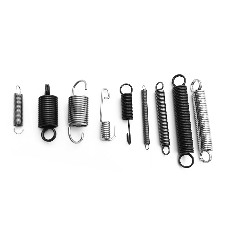 Various styles of tension springs
